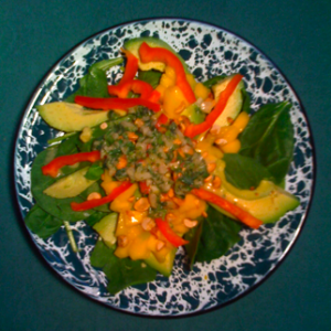 Thai Spinach Salad with Mango & Avocado