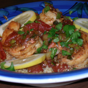 Michael's Cajun Shrimp with Quinoa