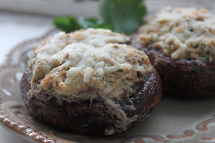 Crab-Stuffed Portobello Mushrooms | Feast on the Cheap