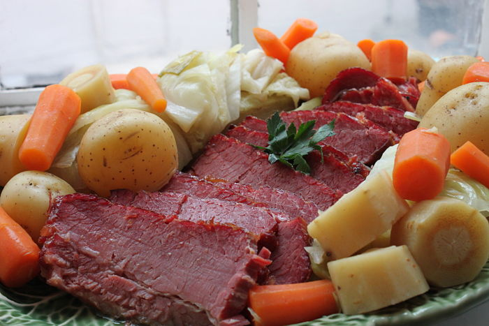 Corned Beef and Cabbage with a Boozy Peach Glaze (a.k.a New England ...