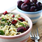 Thumbnail image for Orzo with Creamy Brie, Bing Cherries and Fresh Basil