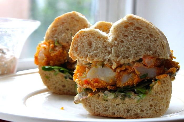 Shrimp Po' Boys with a Spicy-Sweet Remoulade | Feast on the Cheap
