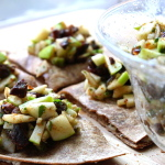 Thumbnail image for Montrachet and Walnut Quesadillas with Apple, Fig, and Date Salsa