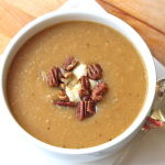 Thumbnail image for Apple and Potato Soup with Brie and Glazed Pecans