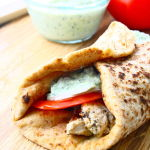Thumbnail image for Greek-Style Chicken Pita Wraps with Homemade Tzatziki