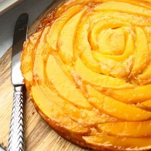 Orange-Mango Upside-Down Cake