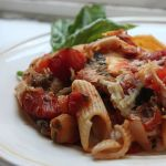 Thumbnail image for Baked Penne Rigate with Smoked Mozzarella and Eggplant Tomato Sauce
