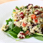 Thumbnail image for Quinoa Salad with Sweet Bell Peppers, Dried Cranberries and Turkey Bacon