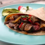 Thumbnail image for Skirt Steak Fajitas with All the Fixins