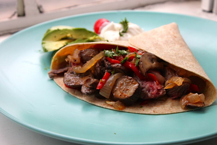 Skirt Steak Fajitas with All the Fixins | Feast on the Cheap