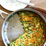 Thumbnail image for Spring Frittata with Asparagus, Caramelized Onions and Sharp Cheddar