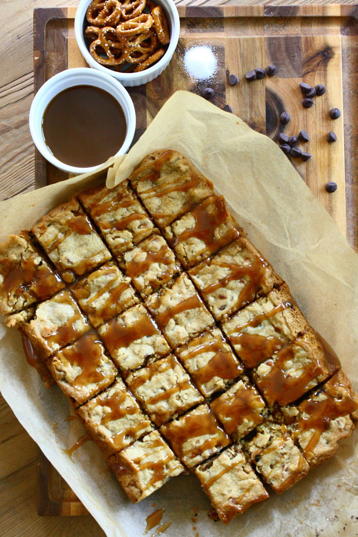Pretzel Blondies
