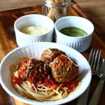 Thumbnail image for Five-Minute Pesto Parmesan Meatballs