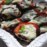 Thumbnail image for Broiled Eggplant with Tomatoes, Caramelized Onion, and Brie