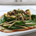 Thumbnail image for Sugar Snap Peas with Sliced Pears, Gouda, and Pistachios