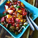 Thumbnail image for Summer Panzanella Salad with Sweet Peaches, Watermelon and Fresh Mozzarella