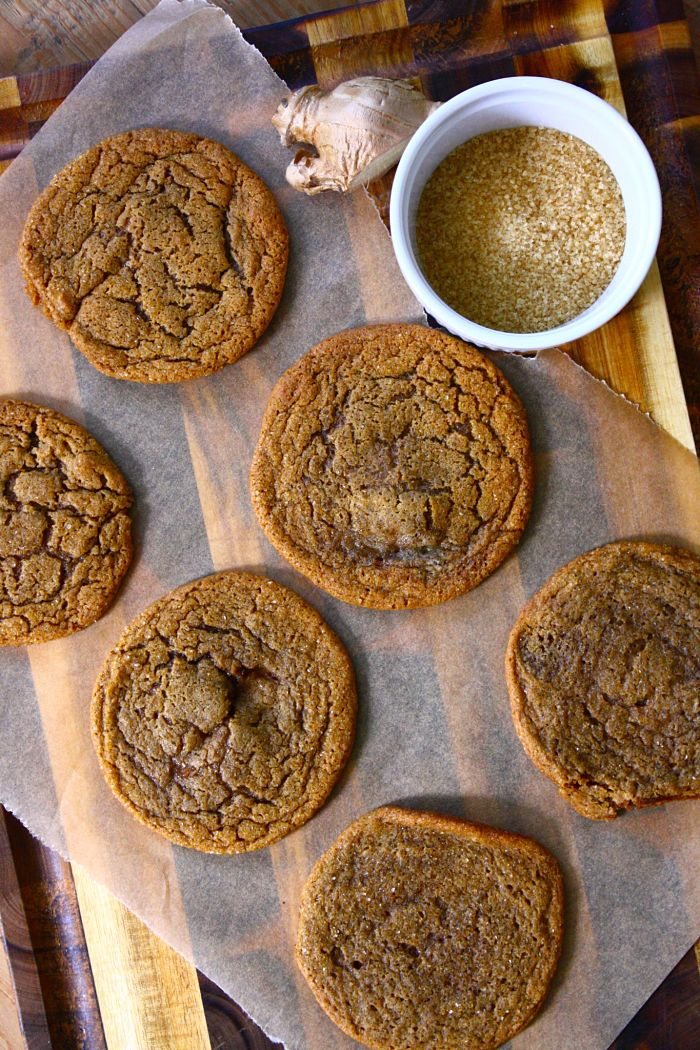 Thin & Chewy Gingersnap Cookies