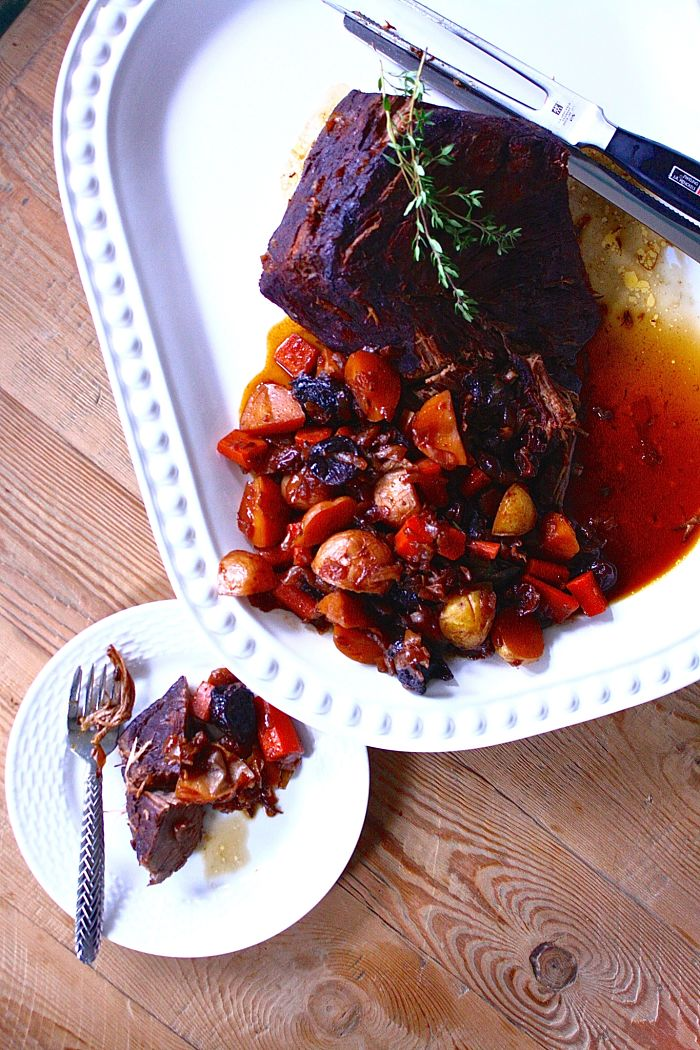 Red-Wine-Braised Brisket with Dried Fruit