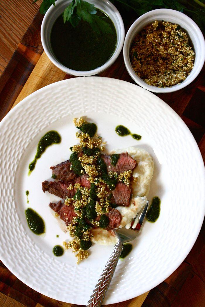 Steak w_Turnip Puree & Toasted Quinoa