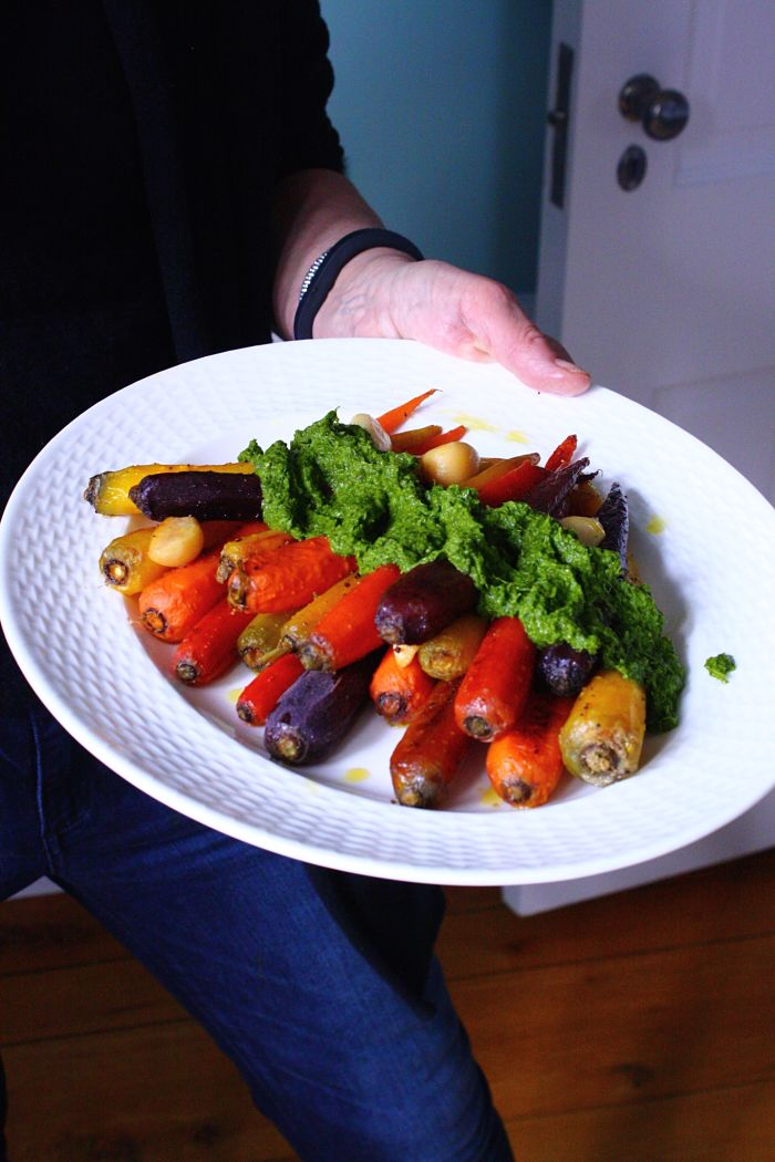 Whole Roasted Carrots w Chimichurri1