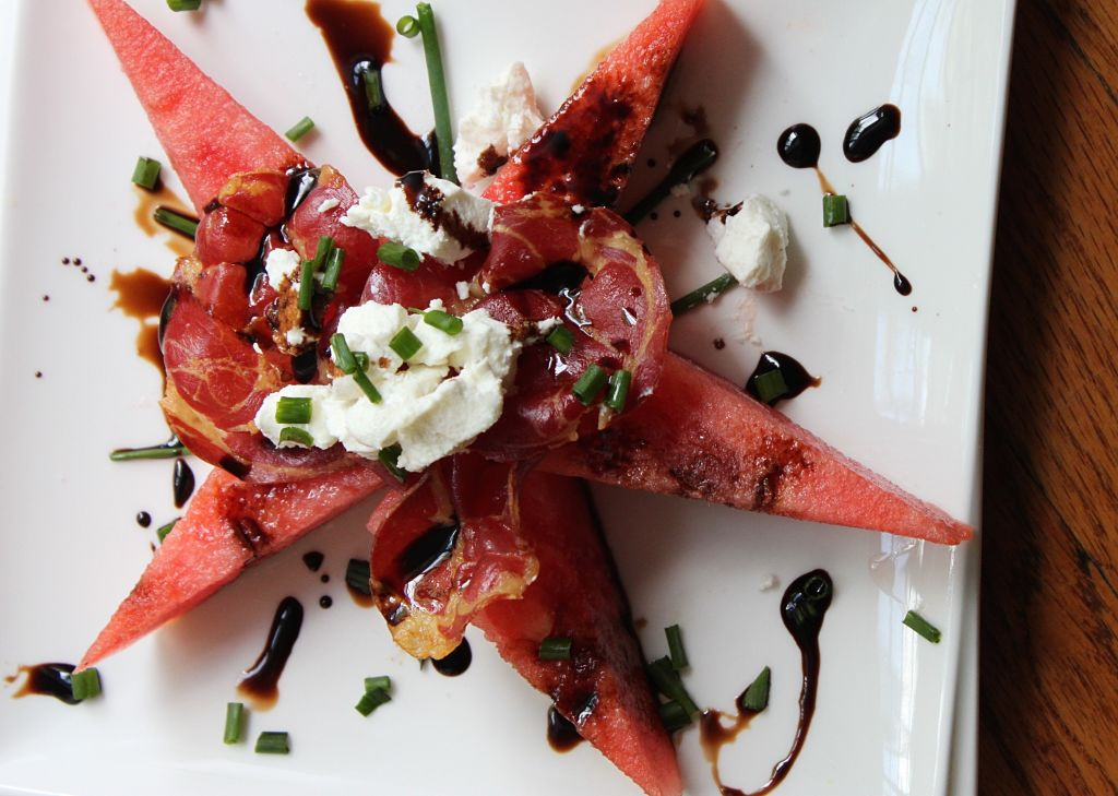 Grilled Watermelon Salad via Feast on the Cheap