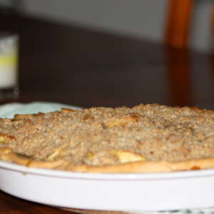 Apple and Mango Crumble Pie