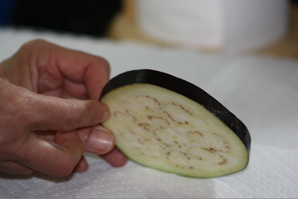 Eggplant slice