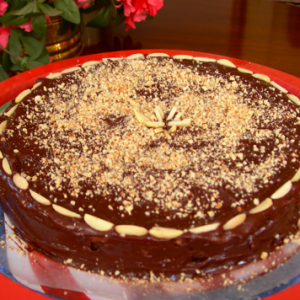 Nana's Chocolate Gateau with Crushed Almonds