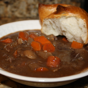 Winter Beef Stew with Mushrooms and Turnips