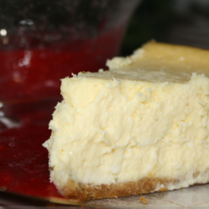 Lizzie Dean's Ultimate Cheesecake with Raspberry Puree