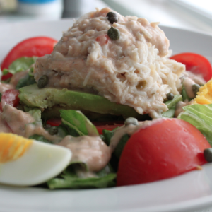 Crab Louis Salad Over Avocado