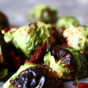 Fall Fest: Roasted Brussels Sprouts with Crispy Pancetta and Garlic