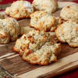 Whole Wheat Parmesan Drop Biscuits