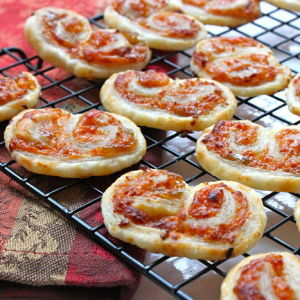 Spicy Cheddar and Chutney Palmiers
