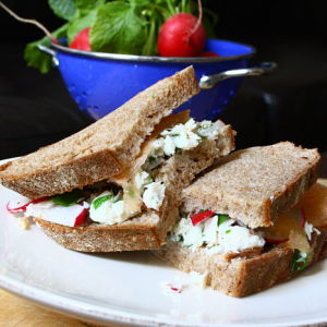 Crab Salad Sandwiches with a Zesty Grapefruit-Honey Dressing