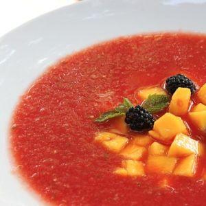 Chilled Watermelon Gazpacho and Frozen Watermelon Daiquiris