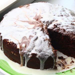 Ooey-Gooey Mocha Cake with Swirl Frosting