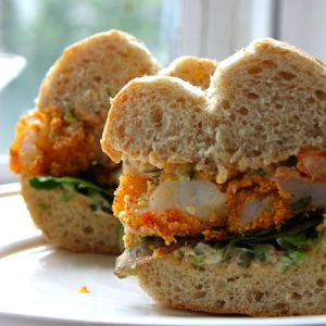 Shrimp Po' Boys with a Spicy-Sweet Remoulade