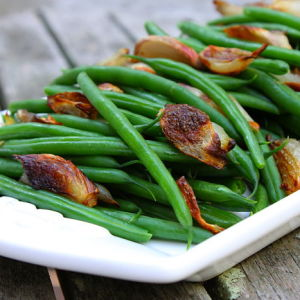 Haricots Verts with Roasted Shallots