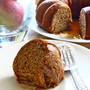 Spiced Apple Cider Bundt Cake with a Cinnamon-Cider Glaze