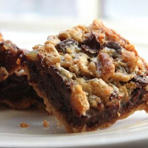 Chocolate, Walnut & Coconut Pie Bars