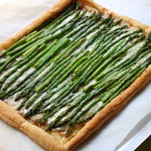 Asparagus Galette with Gruyere Cheese