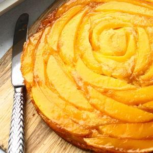 Orange-Mango Upside-Down Cake