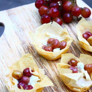 Roasted Grape and Blue Cheese Bites