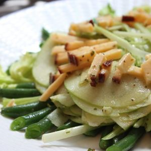 Cool Green Bean Salad with Smoked Gouda and Crisp Apples