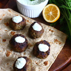 Cinnamon-Spiced Lamb Meatballs with Tzatziki