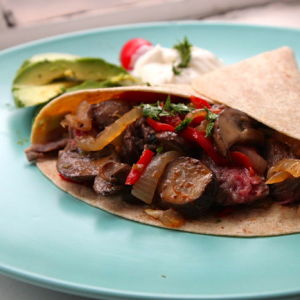 Skirt Steak Fajitas with All the Fixins