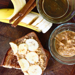 Grilled Peanut Butter, Banana and Honey with Cinnamon Butter