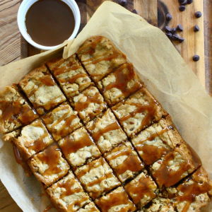 Pretzel Blondies with Salted Caramel