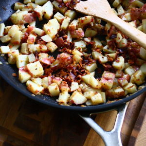 Warm German Potato Salad with Crispy Bacon
